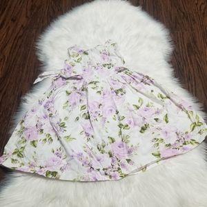 Beautiful Purple Floral Sleeveless Dress Size 4
